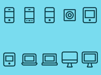 Update: Thin Line Device Icons laptop ipod pc smartphone mac ipad iphone icons device line thin apple