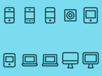 Update: Thin Line Device Icons