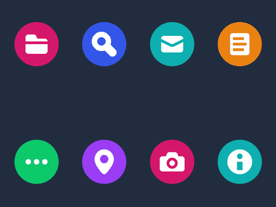 Icon Experiment 2 glyph colorful circles vector icons