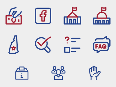 NH Voter Guide Icons outline app lfda vote voting nh voter guide icons