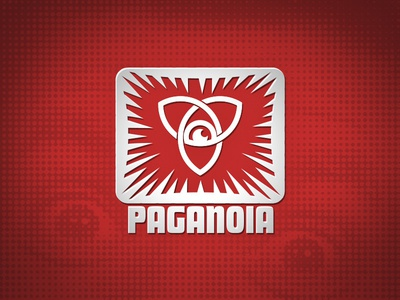 Paganoia logo icon fear religious religion paganism trinity paranoid spikes uncomfortable sharp