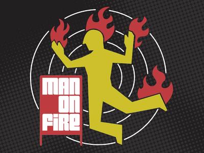 Man on Fire icon safety retro