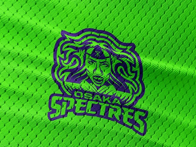 Spectres Logo (one color) sports ghost japanese character mascot
