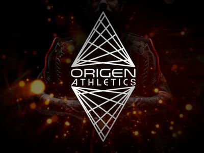 Origen Athletics vortex modern futuristic logo sports
