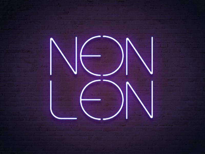 Neon Leon band logo neon
