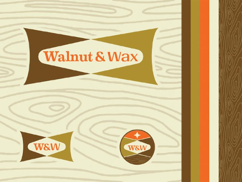 Walnut & Wax furniture mid century modern logo