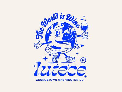 Lutéce washington dc restaurant blue illustration wine world