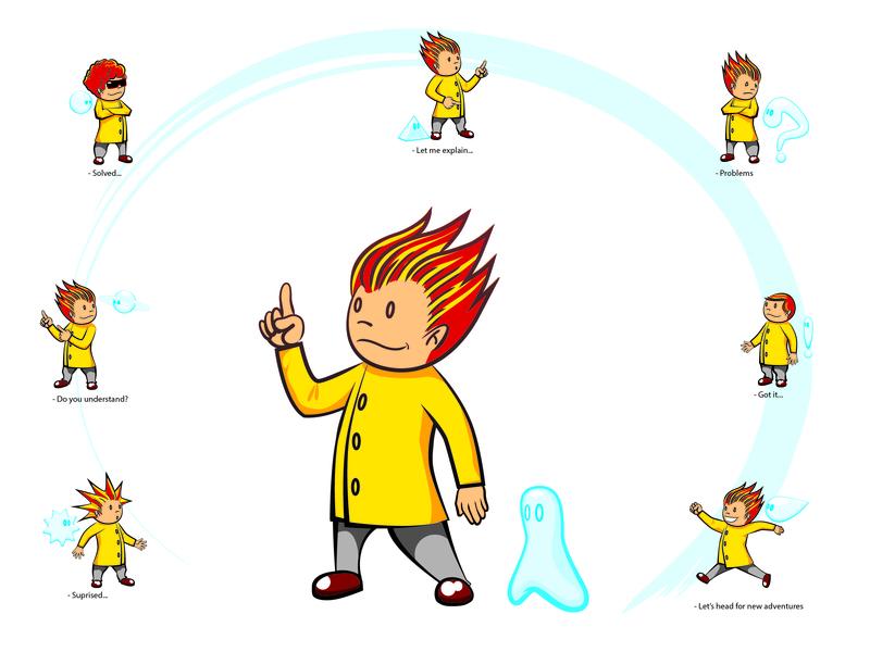 DaVinci Learning Kids - mascot mascot character illustration scientist mascot