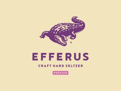 Efferus branding wild animal aligator crocodile illustration vector logo