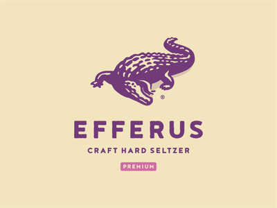 Efferus branding wild animal aligator crocodile illustration vector logo