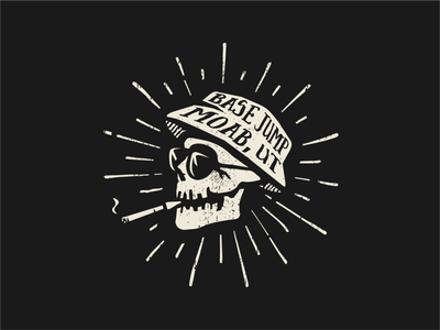 Hunter S. Thompson fear and loathing grunge skull hunter s thompson illustration vector logo