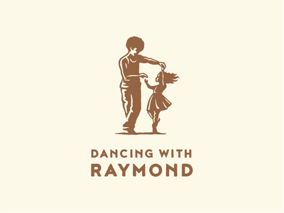Dancing with Raymond dancing icon design little girl dance branding illustration vector logo