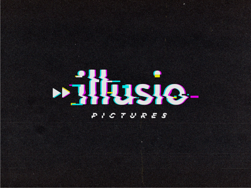 Illusio glitch pictures illusion logo