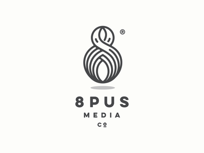 8pus number lineart eight 8 octopus logo