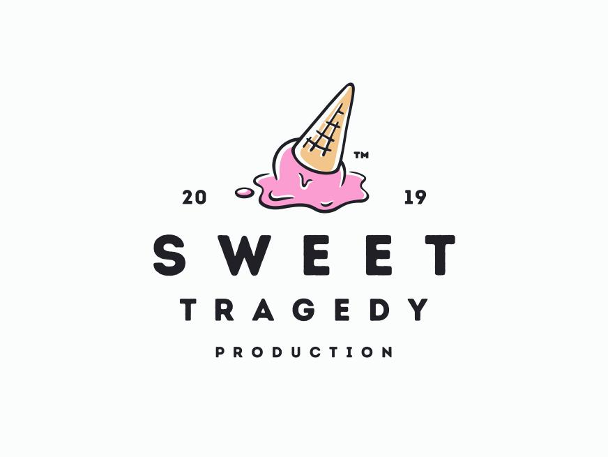 Sweet Tragedy Production branding sweet vector entertainment production ice cream illustration logo