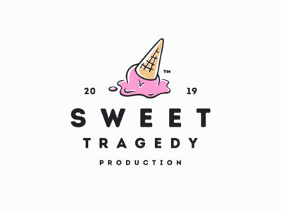Sweet Tragedy Production branding sweet vector entertainment production ice cream illustration logo