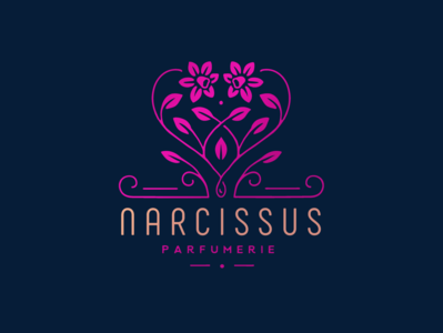 Narcissus parfumerie floral narcissus flower illustration logo