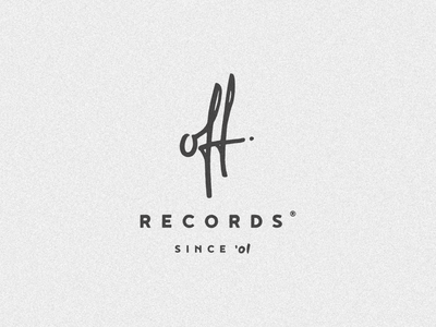 Off Records records off lettering minimal vector branding simple typography logo