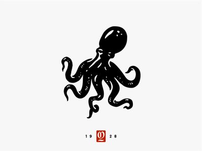 Octopus branding octopus animal illustration vector logo