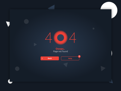 Daily UI 008 - 404 Page design