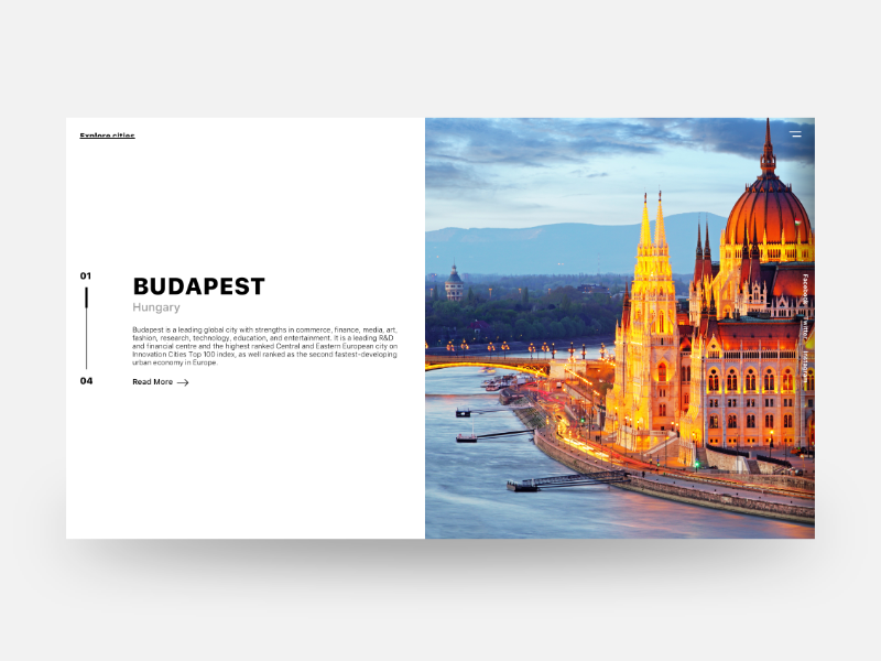 Budapest clean minimal white black interface user user interface ui design ux hungary budapest
