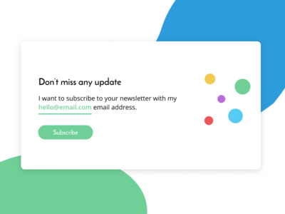 Subscribe form UI design