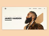 James Harden Website