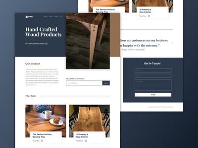Areté Woodworking Homepage