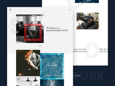 Homepage Concept website web ux ui layout landing page interface homepage clean