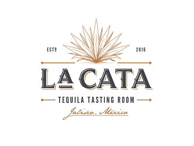 La Cata alcoholic retro logo agave tequila