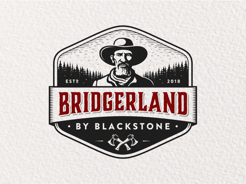 Bridgerland By Blackstone mountains face portrait badge bridgerland illustration character retro vintage logo