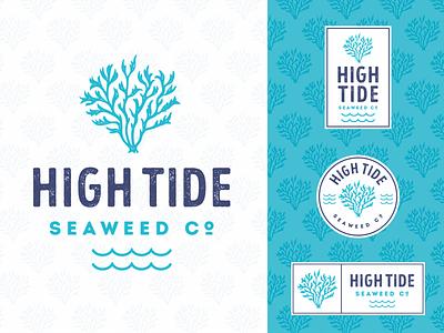 High Tide pacific atlantic sea seaweed seafood olive cuisine food restaurant character illustration vintage retro logo