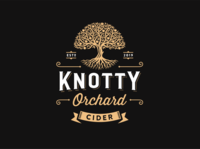 Knotty Orchard Cider alcohol apple tree hard cider cider orchard bar food illustration vintage retro logo