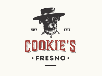 Cookie s Fresno bolero rat-cha dog cookies mexico jalapeño fresno chili pepper paprika sauce restaurant cuisine portrait food character illustration vintage retro logo
