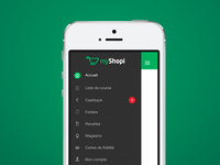 Side menu - myShopi