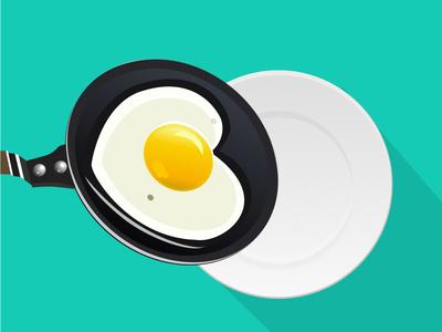 Egg challenge icon plate egg