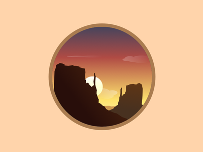 Grand Canyon great canyon gradient sunset mountain icon