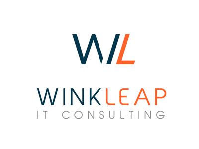 Winkleap consulting it logotype
