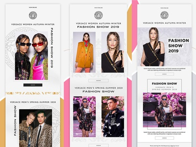 Newsletter Designs for Versace