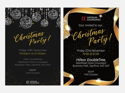 Christmas Party Invitations for Imperium Engineering