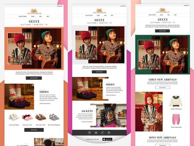 gucci Newsletter designs