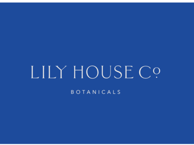 Lily House Typography brand design high end botanicals tea apothocary holistic branding minimalism logo design logo custom type typography