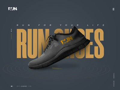 Run Shoes Landing Page