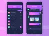 Message Apps Design Dark