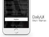 Daily UI Day 1 - Sign Up