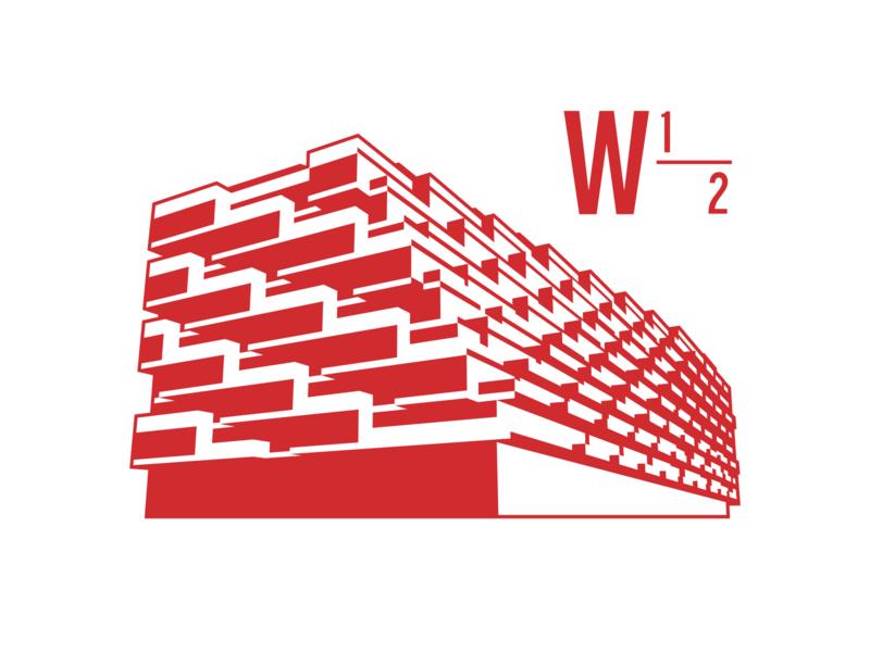 West Half branding building architecture branding design icon illustration