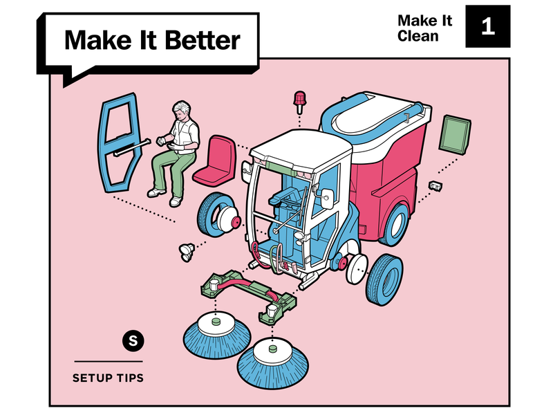 Make It Better setup better life make cleaning truck skill improve layout diagram design tips howto typogaphy print illustration