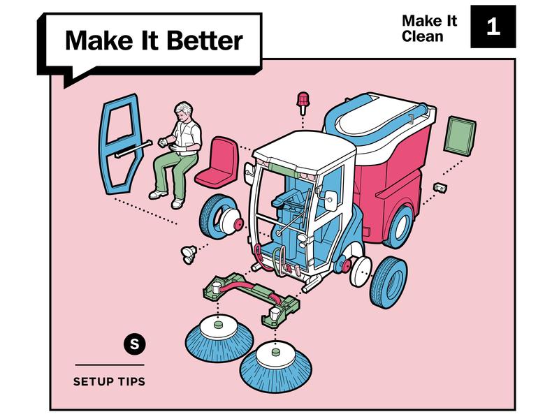 Make It Better setup better life make cleaning truck skill improve layout diagram design tips howto typogaphy print illustration