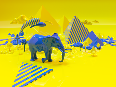 Hexagon Cover #1 desert environment render scene egypt modeling 3d