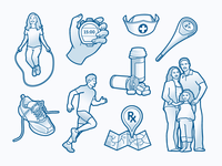 Health Benefits Illustrations